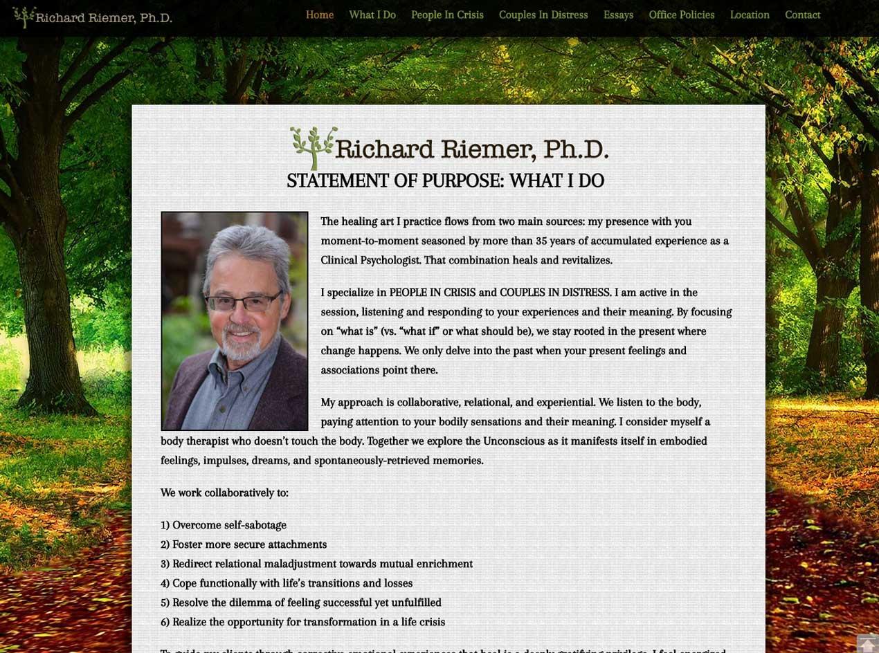 Richard Riemer, Ph.D • Psychologist